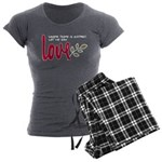 Let me sow love Women's Charcoal Pajamas