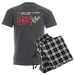 Let me sow love Men's Charcoal Pajamas