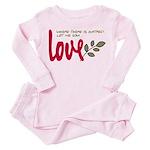 Let me sow love Toddler Pink Pajamas