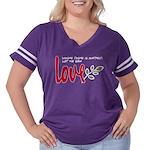 Let me sow love Women's Plus Size Football T-Shirt