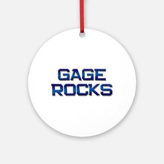gage rocks Ornament (Round)