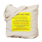 Twins Questions Identical Tote Bag