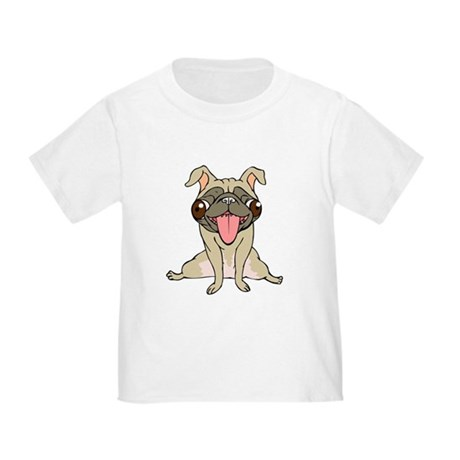 Happy Pug Toddler T-Shirt