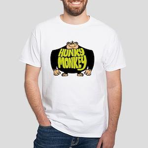 Hunky Monkey White T-Shirt