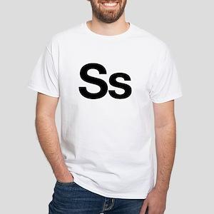 Helvetica Ss White T-Shirt