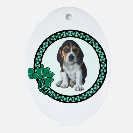 Irish Beagle Oval Ornament