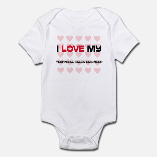 I Love My Technical Sales Engineer Infant Bodysuit