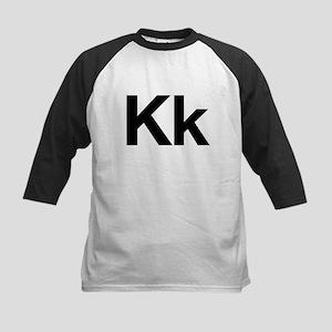 Helvetica Kk Kids Baseball Jersey
