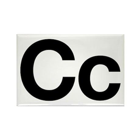Helvetica Cc Rectangle Magnet