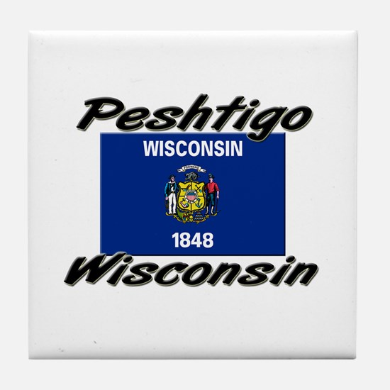 Peshtigo Wisconsin Tile Coaster