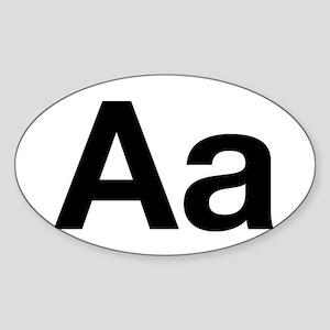 Helvetica Aa Oval Sticker