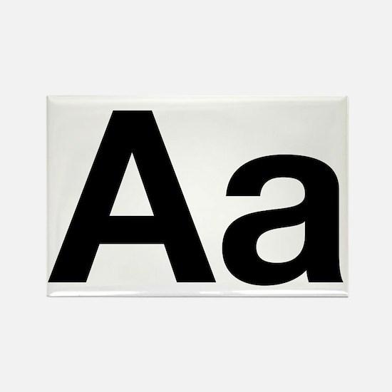 Helvetica Aa Rectangle Magnet