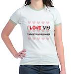 I Love My Tapestry Designer Jr. Ringer T-Shirt