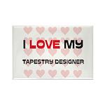 I Love My Tapestry Designer Rectangle Magnet (10 p