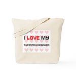 I Love My Tapestry Designer Tote Bag