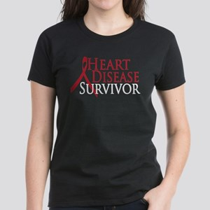 Heart Disease Survivor (2009) Women's Dark T-Shirt