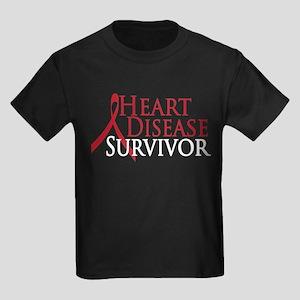 Heart Disease Survivor (2009) Kids Dark T-Shirt