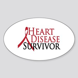 Heart Disease Survivor (2009) Oval Sticker