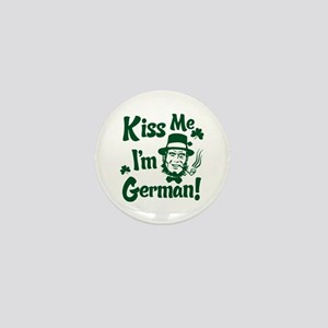 Kiss Me I'm German Mini Button