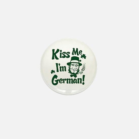Kiss Me I'm German Mini Button