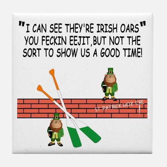 Irish whores spoof Tile Coaster