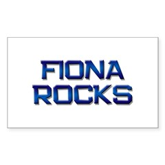 fiona rocks Rectangle Decal