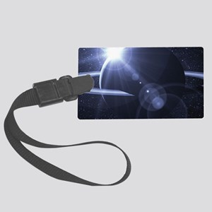 Planet In Space Large Luggage Tag