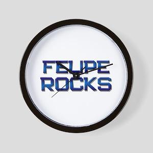 felipe rocks Wall Clock