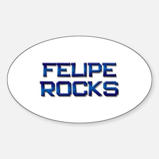 felipe rocks Oval Decal