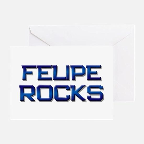felipe rocks Greeting Card