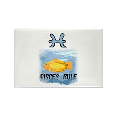 PISCES RULE Rectangle Magnet (10 pack)