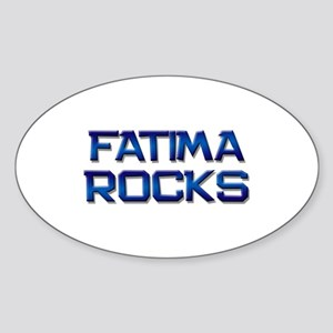 fatima rocks Oval Sticker
