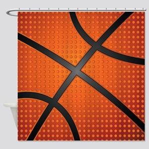 Basketball Ball Shower Curtain