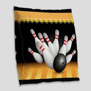 Bowling Burlap Throw Pillow