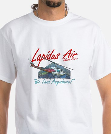 Lapidus Air Island Helicopter Tours White T-Shirt