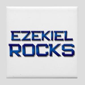 ezekiel rocks Tile Coaster