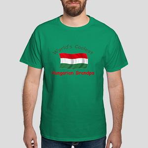 Coolest Hungarian Grandpa Dark T-Shirt