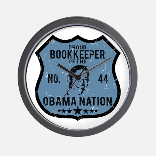 Bookkeeper Obama Nation Wall Clock