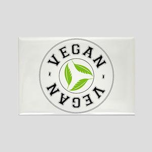 Sports Vegan Logo Rectangle Magnet