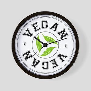 Sports Vegan Logo Wall Clock