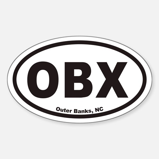 OBX Euro Oval Decal