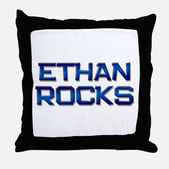 ethan rocks Throw Pillow