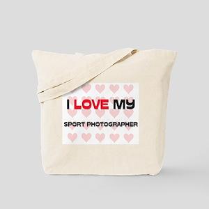 I Love My Sport Photographer Tote Bag