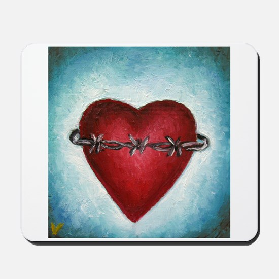 Barb Wire Heart Mousepad