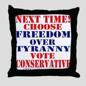 FREEDOM OVER TYRANNY Throw Pillow