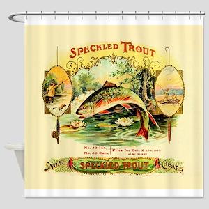 Speckled Trout Vintage Cigar Box La Shower Curtain