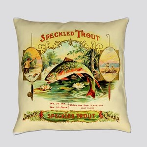 Speckled Trout Vintage Cigar Box L Everyday Pillow