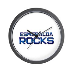 esmeralda rocks Wall Clock