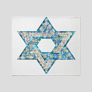 Gems and Sparkles Hanukkah Throw Blanket