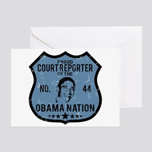 Court Reporter Obama Nation Greeting Cards (Pk of